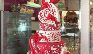LA villa wedding Cake