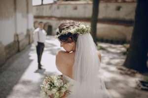 Couronne en fleur mariée